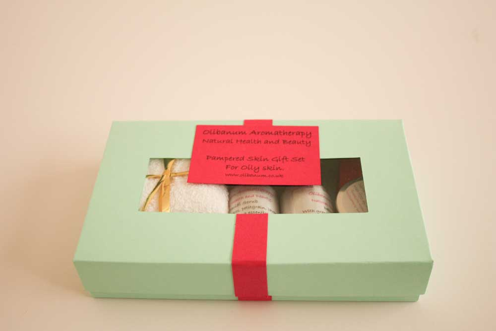 Natural cosmetics gift set for oily skin.